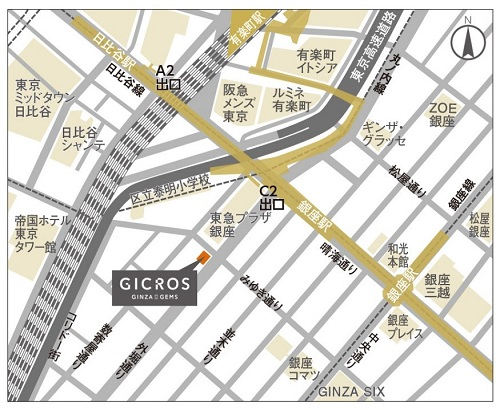 GICROS GINZA GEMSの場所