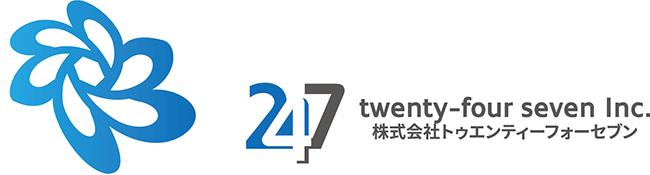 株式会社トゥエンティーフォーセブンのロゴ